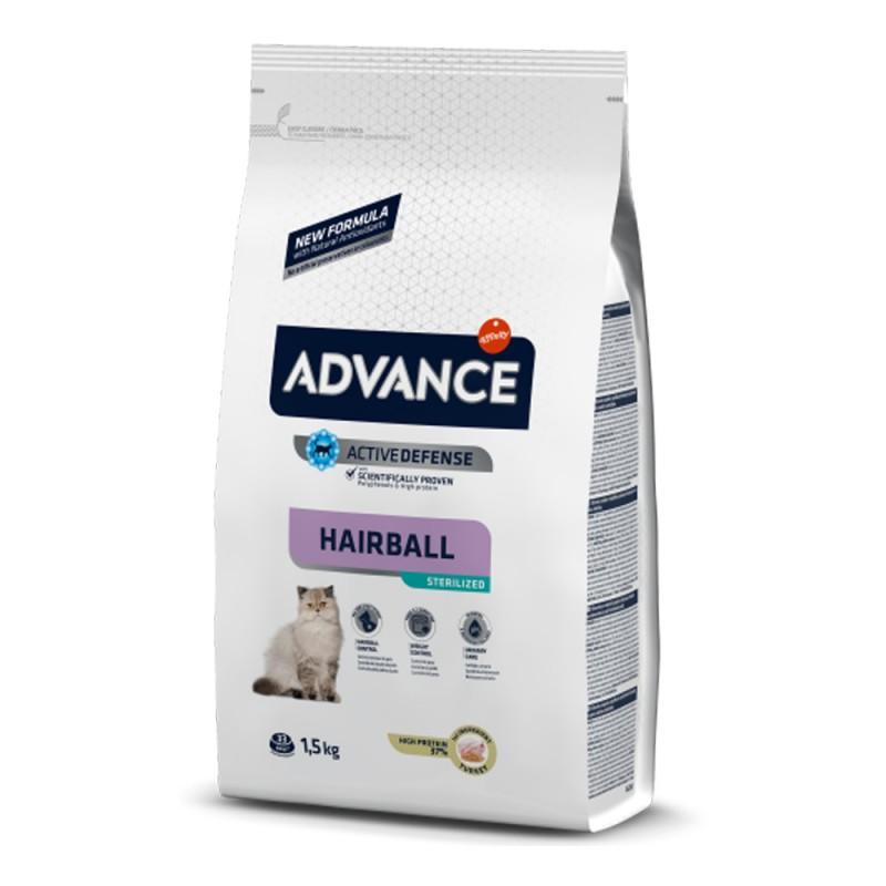 Pungă cu mâncare pentru pisici Advance Hariball de 1,5 kg