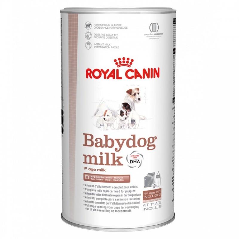 Cutie cu lapte praf Royal Canin pe fond alb