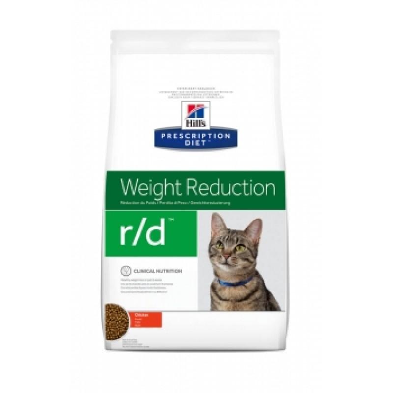 Punga cu hrana Hills PD Feline Weight Reduction pe fond alb
