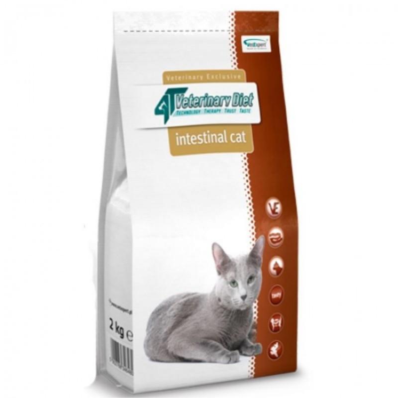 Punga cu hrana uscata 4T Veterinary Diet Intestinal pe fond alb