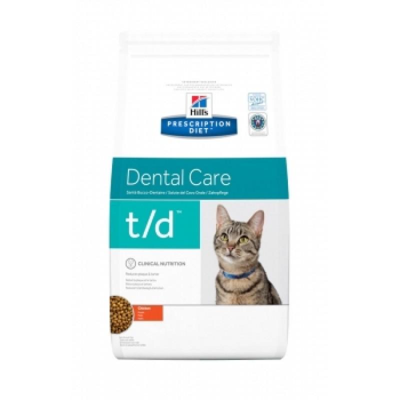 Punga cu hrana uscata Hills PD Feline Dental Care pe fond alb