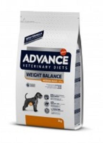 Punga cu hrana uscata Advance Dog Weight Balance Medium - Maxi pe fond alb