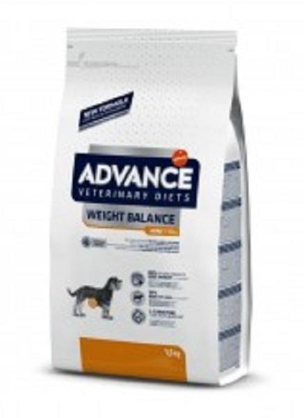 Punga cu hrana uscata Advance Weight Balance Mini pe fond alb