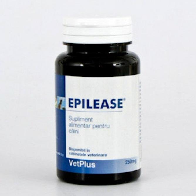 Recipient cu Epilease pe fond alb