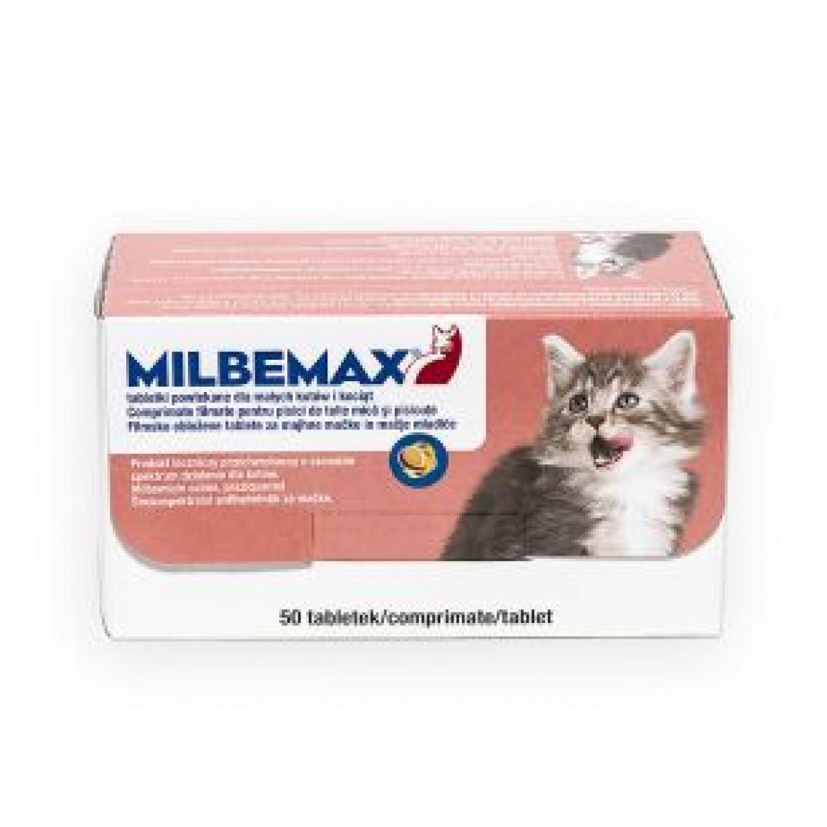 Comprimat antiparazitar pentru pisici sub 2 kg, Milbemax Cat