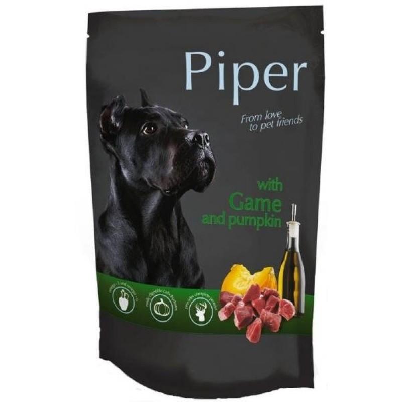 Hrană umedă câini adulți, Piper, cu Vânat și Dovleac500