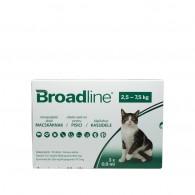 Pipetă antiparazitară Broadline pentru pisici de 2.5 - 7.5kg