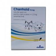 Pipetă antiparazitară Chanhold 15 mg pentru câini și pisici sub 2,5 kg