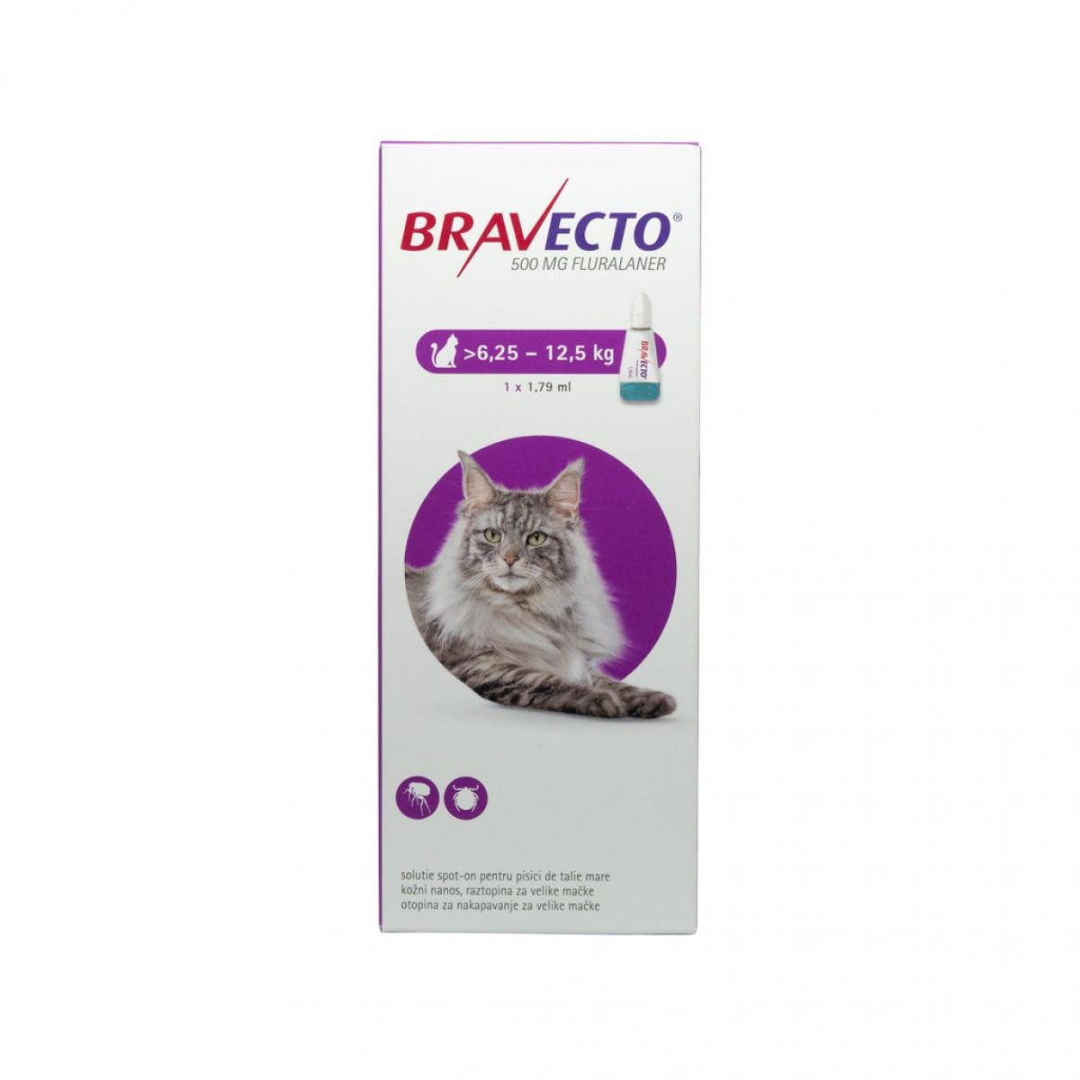 Pipetă antiparazitară Bravecto pentru pisici de 6.25 - 12.5kg