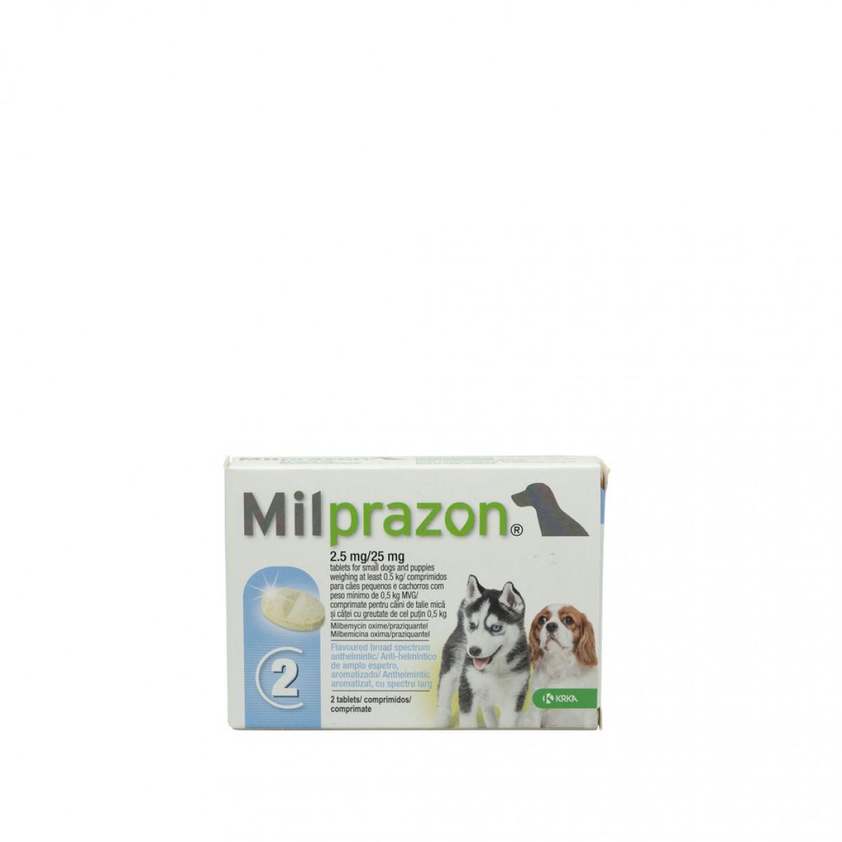 Tabletă antiparazitare Milprazon pentru câini de până la 5kg