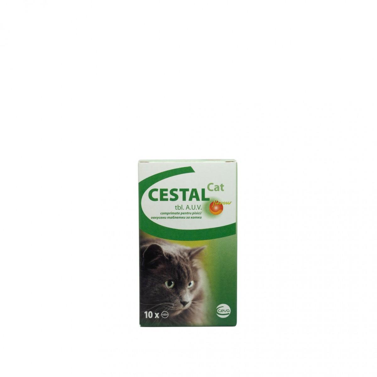 Comprimat antiparazitar Cestal Cat Flavour