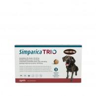 Comprimat masticabil antiparazitar Simparica Trio pentru caini 40-60kg