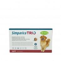 Comprimat masticabil antiparazitar Simparica Trio pentru caini 20-40kg