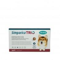 Comprimat masticabil antiparazitar Simparica Trio pentru caini 10-20kg