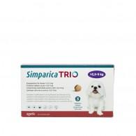 Comprimat masticabil antiparazitar Simparica Trio pentru caini 2.5-5kg