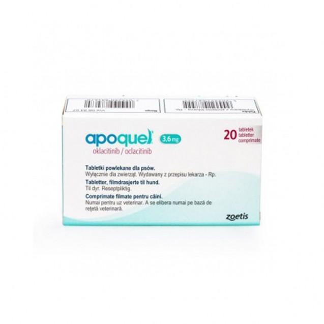 Apoquel 3.6 mg pentru caini 20 tablete