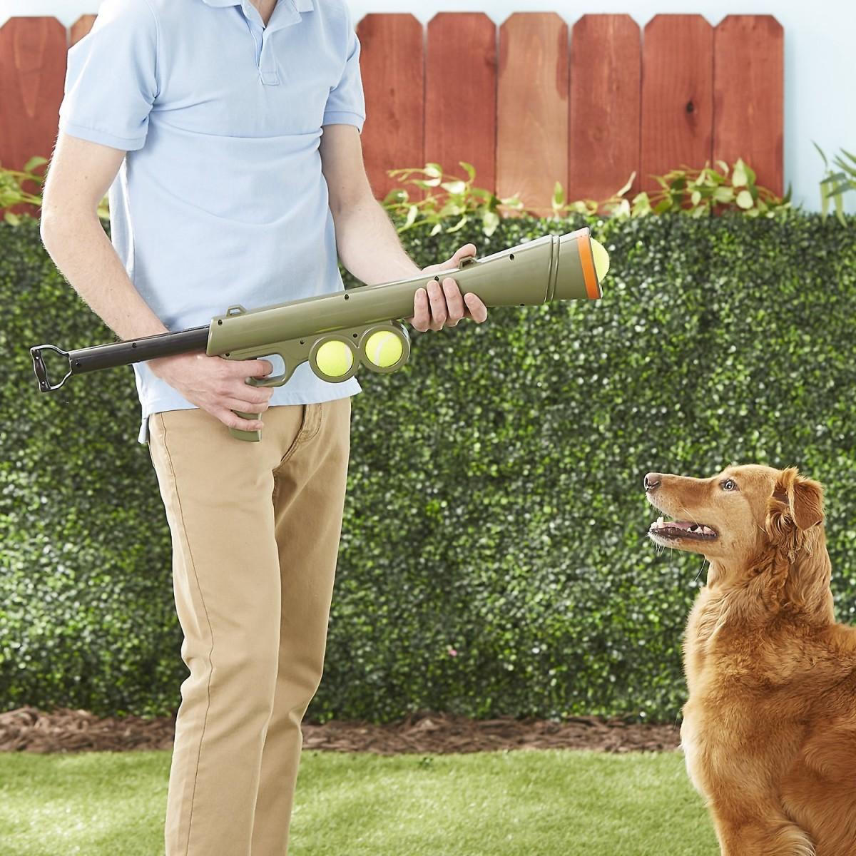 Jucarie Bazooka cu mingi de tenis
