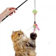 Jucarie Pisici cu Minge si Fulg