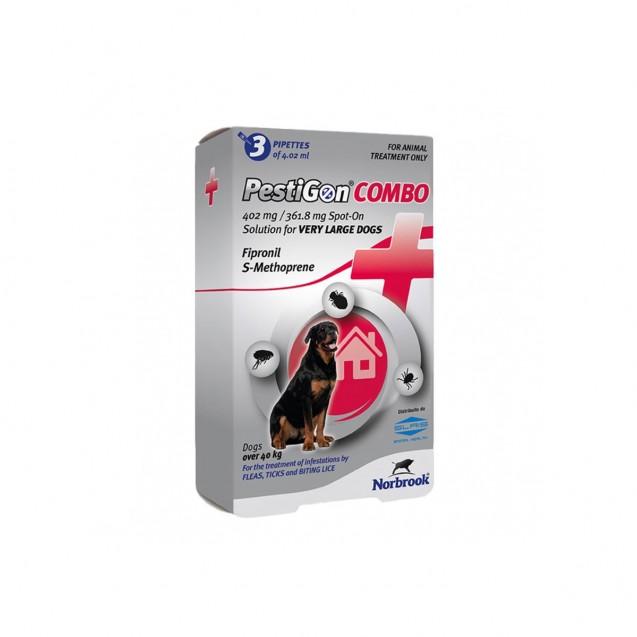 Pipetă antiparazitară Pestigon Combo Dog XL pentru caini de talie foarte mare (40-60kg)