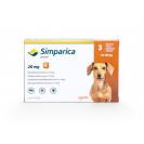 Comprimat masticabil antiparazitar Simparica 20 mg pentru câini de 5 - 10 kg