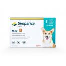 Comprimat masticabil antiparazitar Simparica 40 mg pentru câini de 10 - 20 kg
