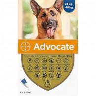 Pipetă antiparazitară Advocate pentru caini de 25-40 kg