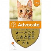 Pipetă antiparazitară Advocate pentru pisici de până la 4kg