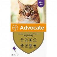 Pipetă antiparazitară Advocate pentru pisici de 4 - 8kg