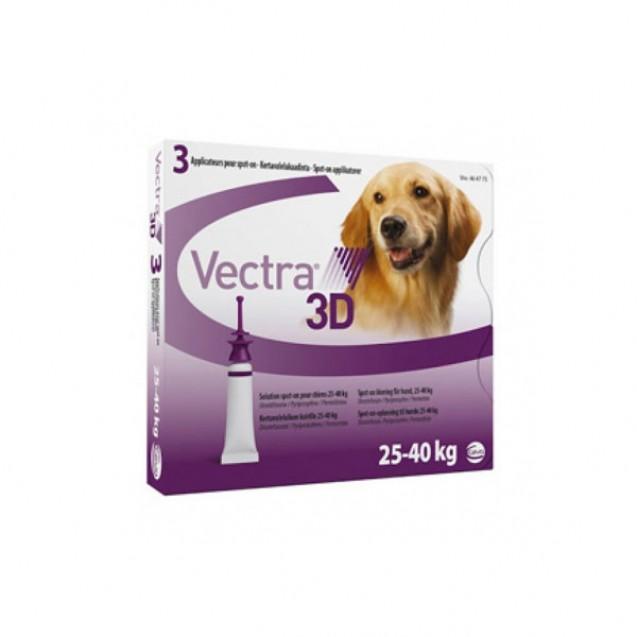 Pipetă antiparazitară Vectra 3D pentru câini de 25 - 40kg