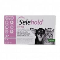 Pipetă antiparazitară Selehold pentru caini si pisici sub 2,5kg