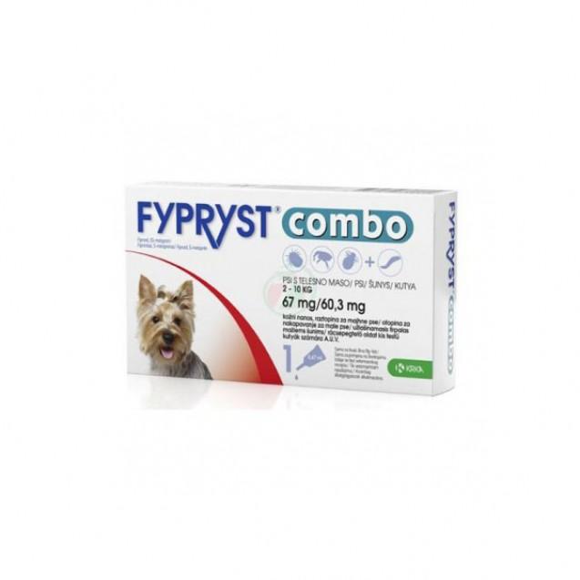 Pipetă antiparazitară Fypryst combo pentru câini de 2 - 10kg