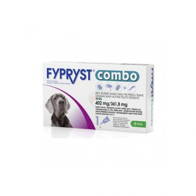Pipetă antiparazitară Fypryst combo pentru câini de 40 - 60kg