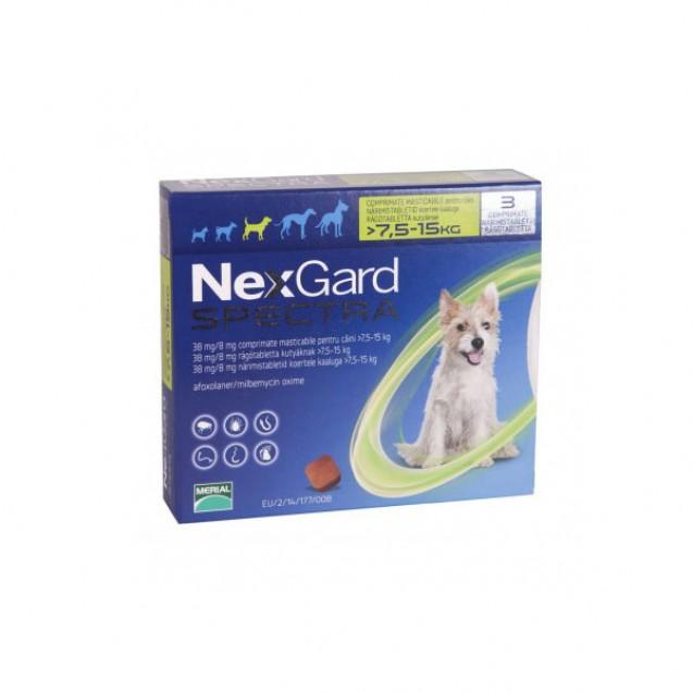 Comprimat masticabil deparazitare Nexgard Spectra Caini M - (7.5-15kg)