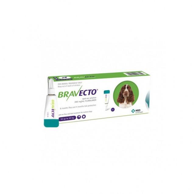 Pipetă antiparazitară Bravecto pentru câini de 10 - 20kg