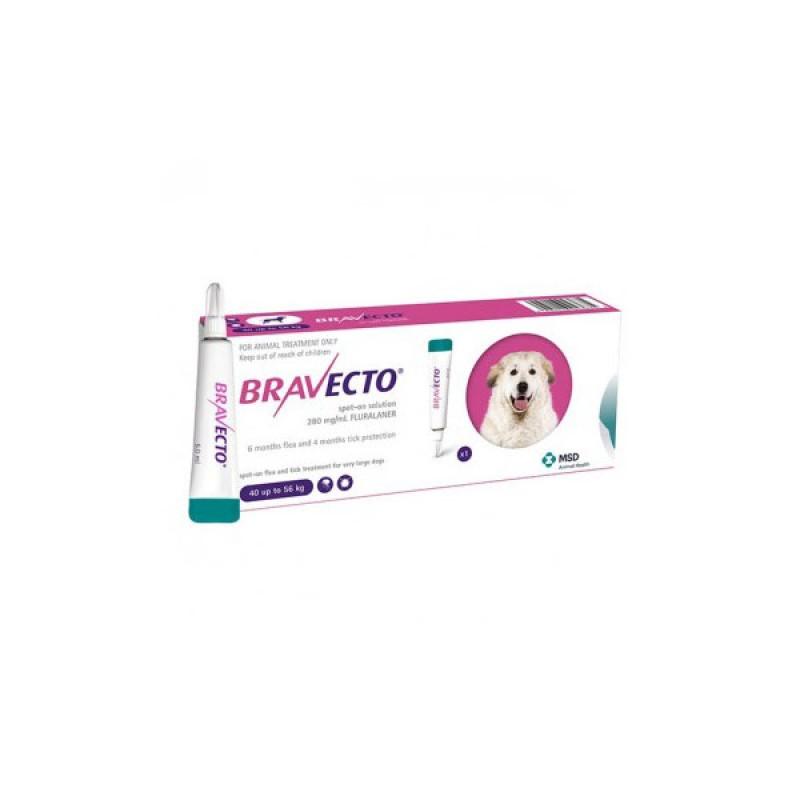 Pipetă antiparazitară Bravecto pentru câini de peste 40kg