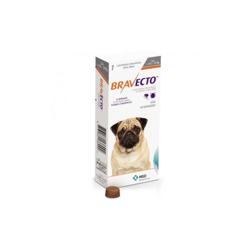 Tabletă antiparazitară Bravecto pentru câini de 4.5 - 10kg