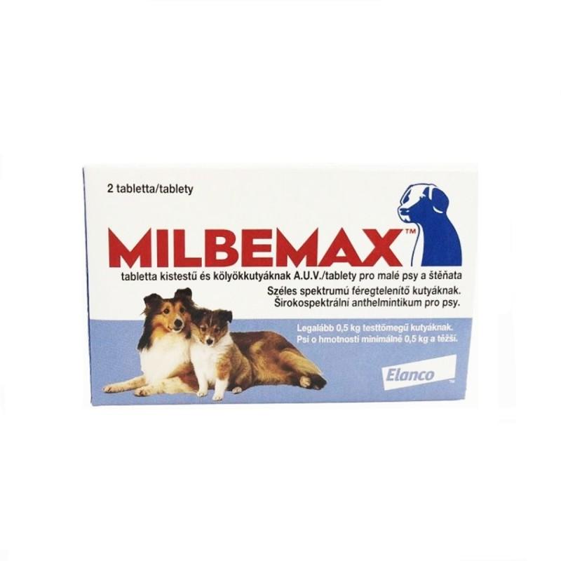 Tableta antiparazitara Milbemax pentru caini de sub 5kg