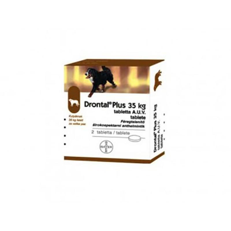 Tabletă antiparazitare Drontal pentru câini de până la 35kg
