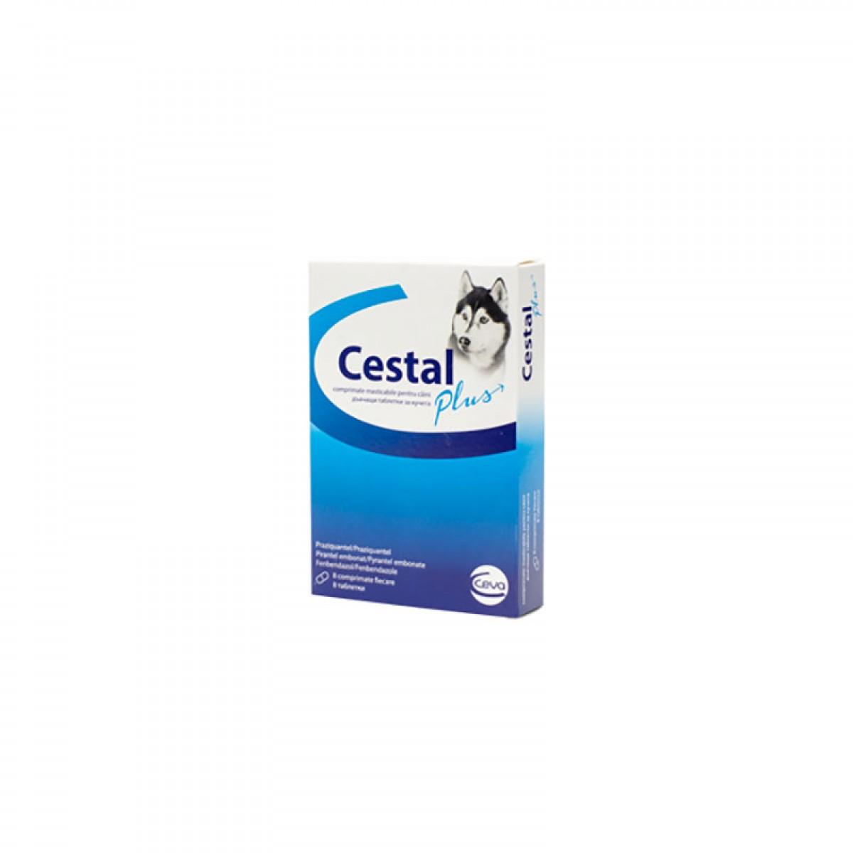 Comprimat masticabil antiparazitar Cestal Plus Dog Flavour