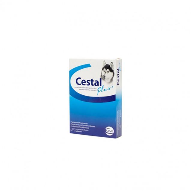 Comprimat masticabil antiparazitare Cestal Plus Dog Flavour