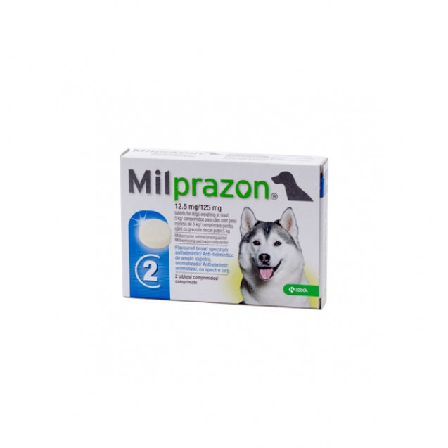 Tabletă antiparazitare Milprazon pentru câini de 5 - 25kg