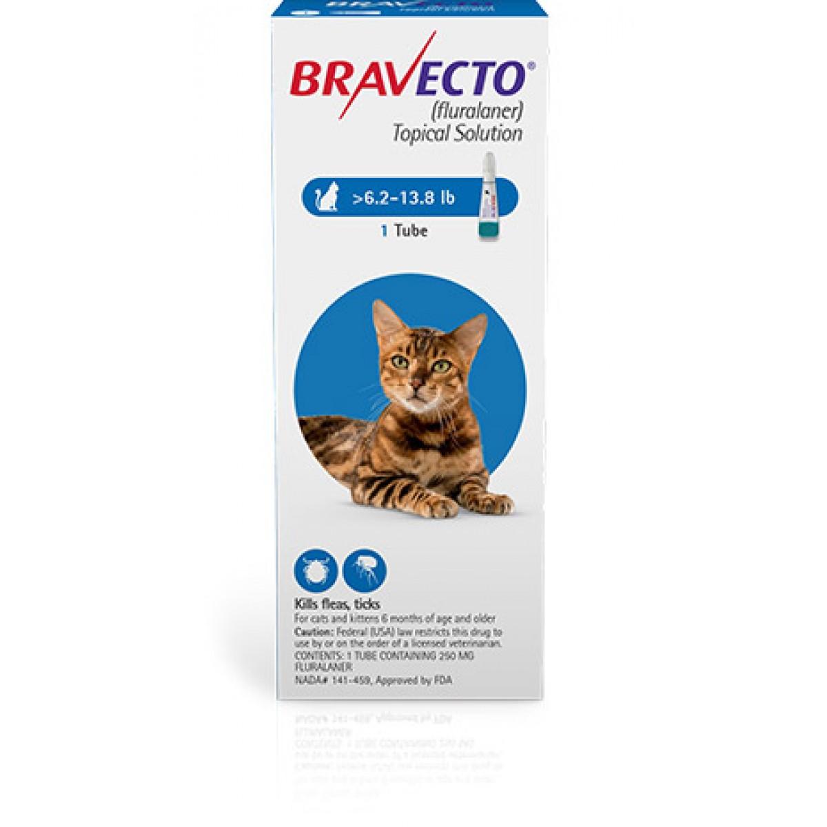 Pipetă antiparazitară Bravecto pentru pisici de 2.8 - 6.25kg