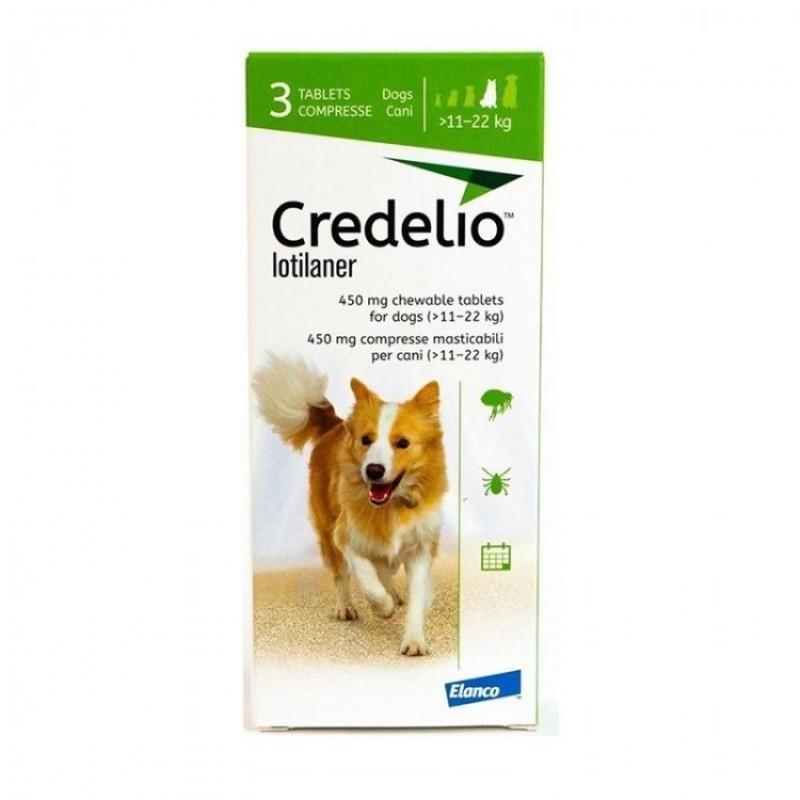Tabletă antiparazitară Credelio 450mg  pentru caini intre 11-22 kg