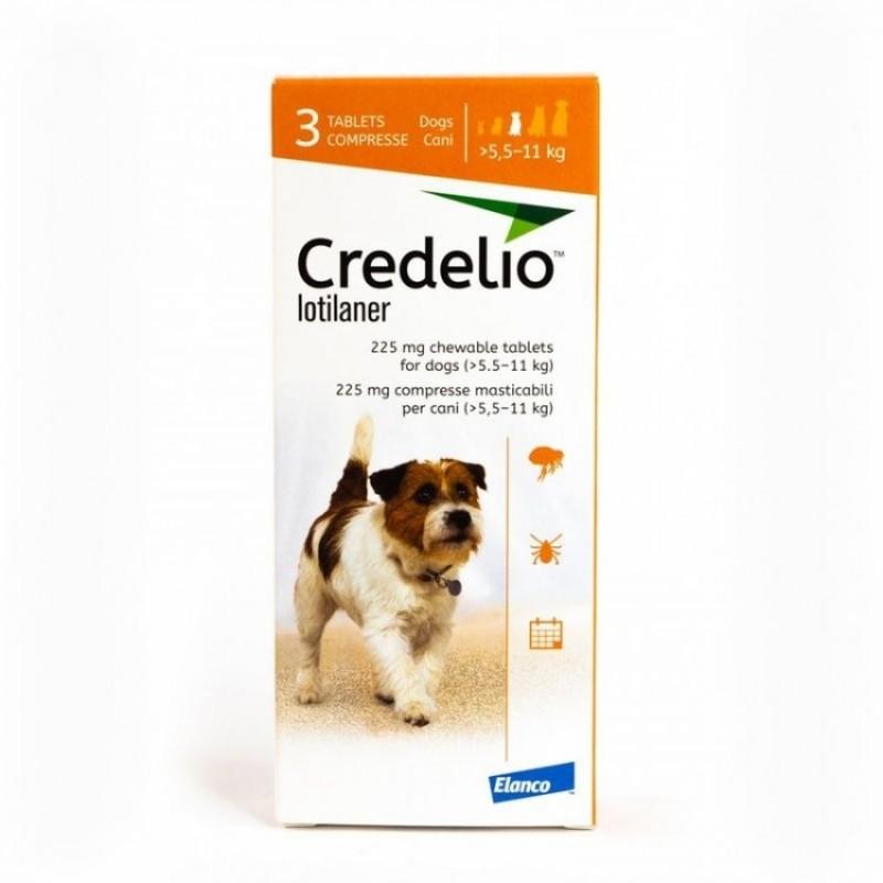 Tabletă antiparazitară Credelio 225mg  pentru caini intre 5.5-11 kg