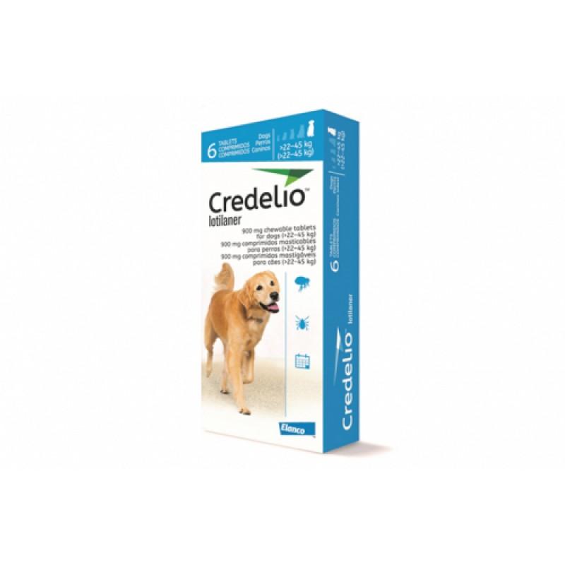 Tabletă antiparazitară Credelio 900mg  pentru caini intre 22-45 kg