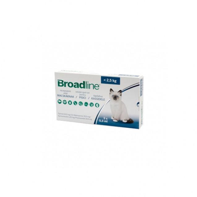 Pipetă antiparazitară Broadline pentru pisici de până la 2.5kg