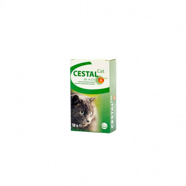 Comprimat masticabil antiparazitare Cestal Cat Flavour