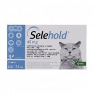 Pipetă antiparazitară Selehold pentru pisici între 2.6-7.5kg