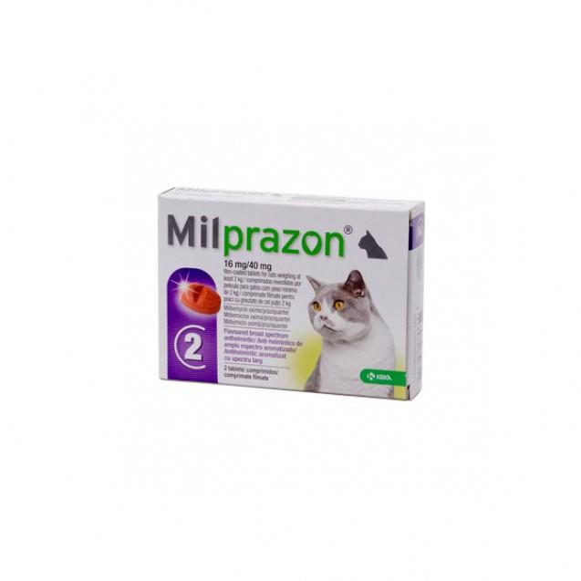Tabletă antiparazitară Milprazon pentru pisici de 2 - 8kg