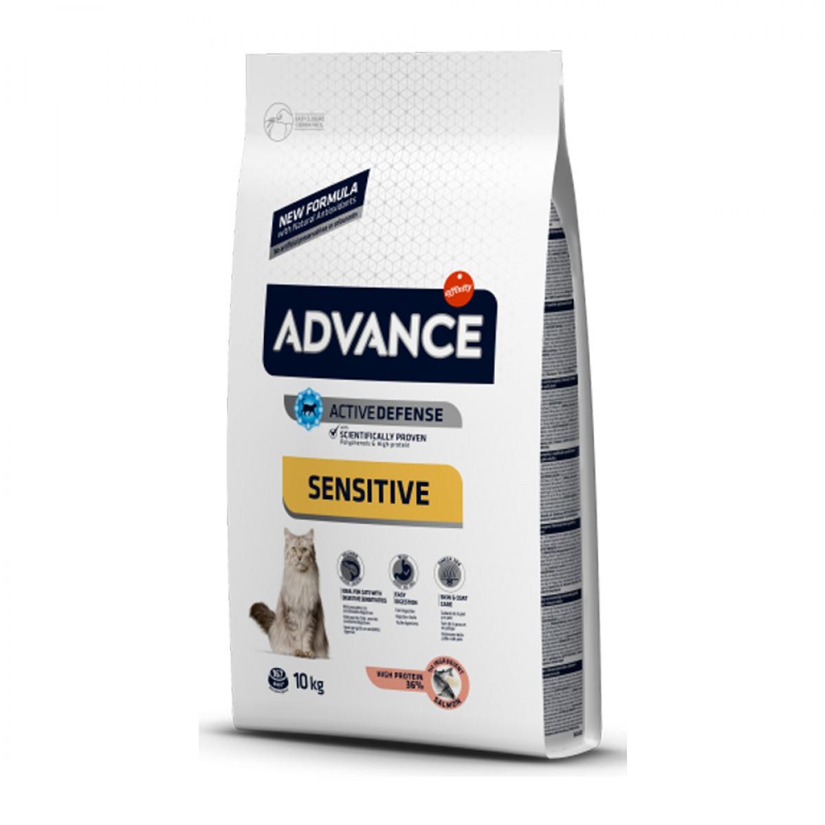 Hrana pentru pisici sensibile adulte - Advance Cat Sensitive Adult 10kg